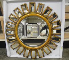 Ideas For Wall Decor by Decorating Round Gold Sunburst Mirror For Pretty Wall Decoration