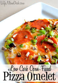 open faced low carb pizza omelet on a low carb diet this pizza