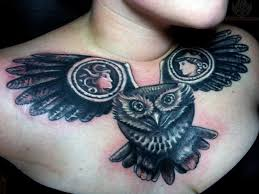 funny owl tattoo 2 owl chest tattoo on tattoochief com