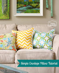 Pillow Designs by Square Throw Pillow Patterns Diy Tutorial