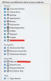 afficher disque dur bureau mac appareils n apparait pas dans finder el capitan les forums de