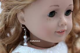 human earrings how to american girl doll s ears to wear human earrings