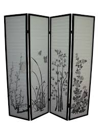 panel room divider modest 4 panel room divider screen with black iron hinges