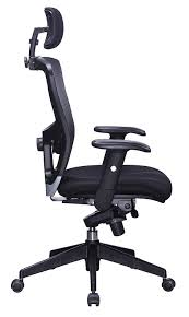 Ergonomic Office Chairs With Lumbar Support Amazon Com Office Factor Executive Managers High Back Black Mesh