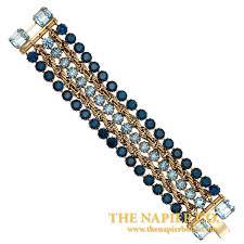 rhinestone bracelet images Five strand vintage napier 1950s blue rhinestone bracelet five jpg