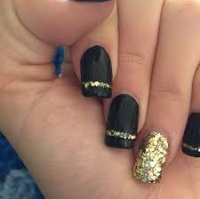 36 black and gold gel nail designs nails in pics