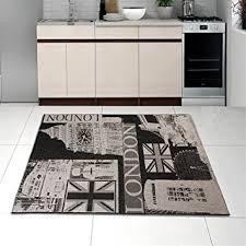 petit plat en chambre petit tapis de salon tissé à plat noir argenté 60 x 110 cm