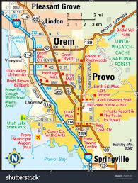 Orem Utah Map by Provo Utah Area Map Stock Vector 150035753 Shutterstock