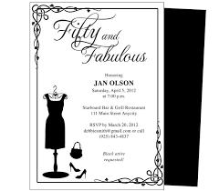 impressive 50th birthday party invitation template theruntime com