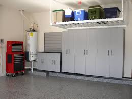 elegant grey garage storage system organization design ideas build
