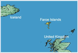 island on map map of the faroe islands nations project