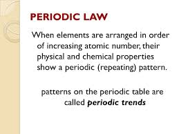 why is the periodic table called periodic periodic relationships among the elements chapter 5 copyright the