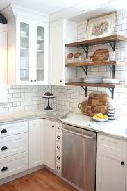 shelves contemporary shelf open shelves between kitchen cabinets