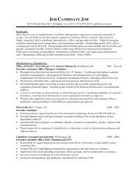Sample Resume For Administrative Assistant Office Manager by Executive Administrative Assistant Resume Resume For Your Job
