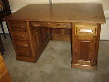 Flat Top Desk Antique Oak Desk Ebay