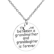 grandmother granddaughter necklace aliexpress buy between grandmother granddaughter family