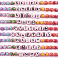 friendship bracelet with name images Personalised girls friendship bracelet name letter message jpg