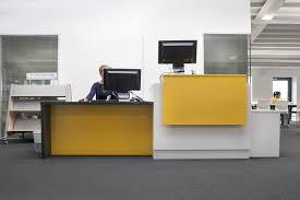 Yellow Reception Desk Reception Desk At Haberdashers Aske U0027s Girl U0027s School Library