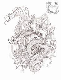 intertwining snakes tattoov01 by fallingsarah on deviantart
