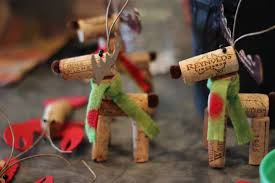 moose or reindeer for christmas decorations made out of wine