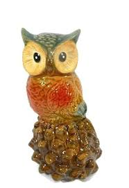 home interior collectibles owl figurines collectibles ceramic owl perching on an acorn pier 1