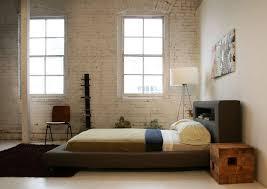 Free Standing Headboard Bedroom Dark Finished Platform Bed Frame With Shelf On Headboard