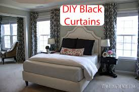 Tips To Spice Up The Bedroom Spice Up A Bedroom With Diy Lined Black Tab Curtains Step By Step