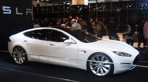 tesla outside one of the earliest tesla model s test drivers tries out 2015