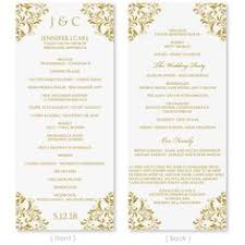 indian wedding program template 6 best images of wedding program wording ideas wedding ceremony