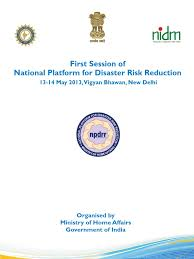 first session of npdrr disaster risk reduction earthquakes