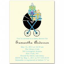 pram and gifts baby shower invitation bs039