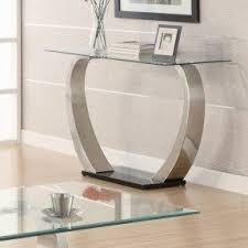 Glass Sofa Table Metal Sofa Table With Glass Top Foter
