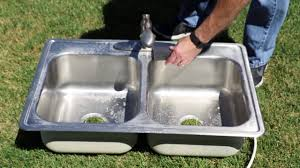 Clean A Stainless Steel Sink And Remove Scratches YouTube - Stainless steel kitchen sink cleaner