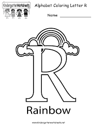 kindergarten letter r coloring worksheet printable great website