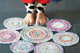 tappeti fai da te tappeto in tessuto fai da te riciclo creativo