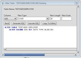 Alter Table Change Data Type Sql Server Db2 Change Column Type Of Db2 Database Table Columns Via The Alter