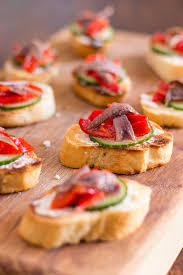 appetizer canape anchovy hors doeuvres with marinated roasted peppers easy