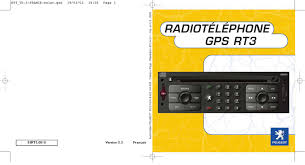 mode d u0027emploi peugeot radio telephone gps rt3 voiture trouver