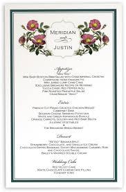 wedding menu sles flowers and bread menu best flowers and 2017