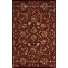 Area Rugs India Nourison India House Brick 5 Ft X 8 Ft Area Rug 102980 The