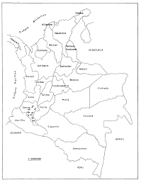 Map Of Colombia Unodc Bulletin On Narcotics 1961 Issue 1 001