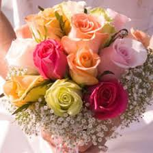 Global Roses Buy Classic Bridal Rose Bouquets With Assorted Colors Of Roses