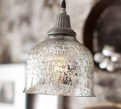 Crackle Glass Pendant Light Mercury Glass Pendant Lights Ialexander Me
