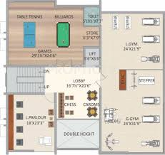 floor plan for gym 1355 sq ft 3 bhk 2t apartment for sale in beema developers pvt ltd