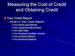 trw credit bureau consumer credit section 6 1what is consumer credit section 6 2