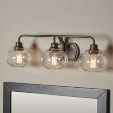 gallego 3 light glass shade vanity light antique bronze vanity lighting birch lane