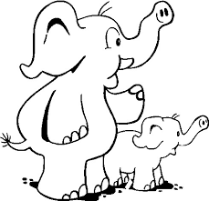 elephant coloring picture kids coloring pages free printable