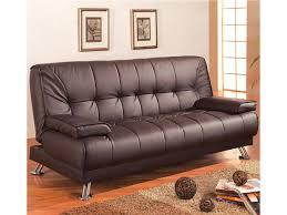 Brown Faux Leather Sofa Brown Faux Leather Sofa Bed W Removable Armrests Marjen Of