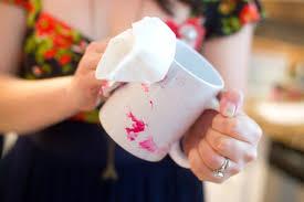 domestic fashionista diy marbled nail polish coffee mugs
