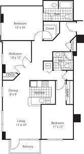 3 Bed 2 Bath Floor Plans by Olympus Apartments In Belltown 2801 Western Avenue